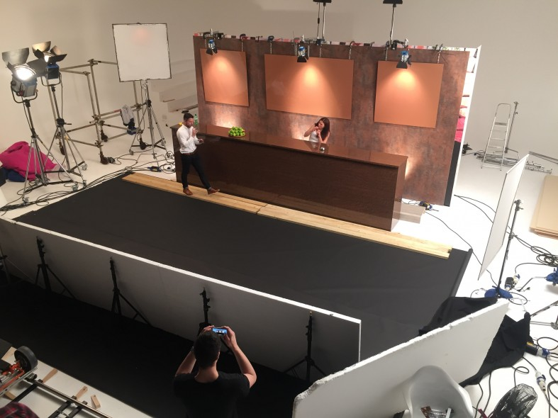 On Set with Formica.